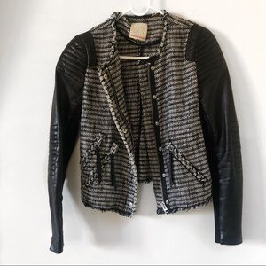 Leather Tweed Rebecca Taylor Jacket RARE!